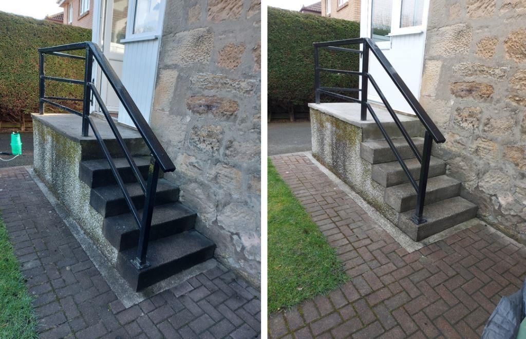Concrete Steps Before and After.
